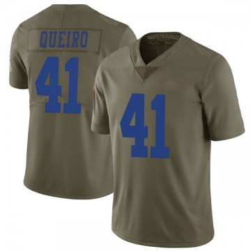 Youth Nike Dallas Cowboys Kyle Queiro Green 2017 Salute to Service Jersey - Limited