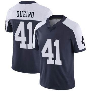 Youth Nike Dallas Cowboys Kyle Queiro Navy Alternate Vapor Untouchable Jersey - Limited