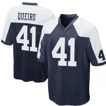 Youth Nike Dallas Cowboys Kyle Queiro Navy Blue Throwback Jersey - Game