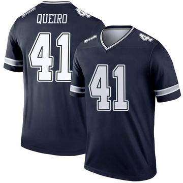 Youth Nike Dallas Cowboys Kyle Queiro Navy Jersey - Legend