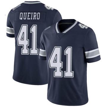 Youth Nike Dallas Cowboys Kyle Queiro Navy Team Color Vapor Untouchable Jersey - Limited