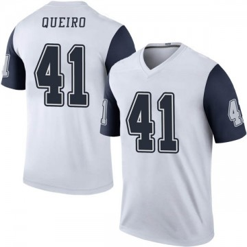 Youth Nike Dallas Cowboys Kyle Queiro White Color Rush Jersey - Legend