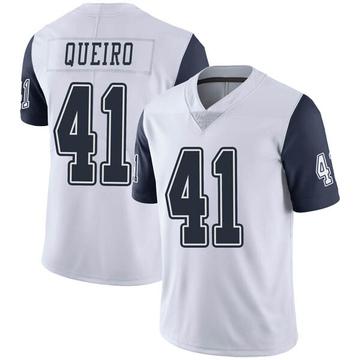 Youth Nike Dallas Cowboys Kyle Queiro White Color Rush Vapor Untouchable Jersey - Limited