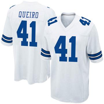 Youth Nike Dallas Cowboys Kyle Queiro White Jersey - Game