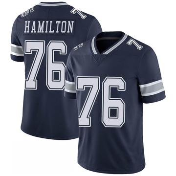 Youth Nike Dallas Cowboys LaDarius Hamilton Navy 100th Vapor Jersey - Limited