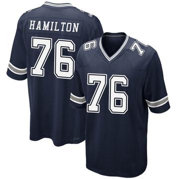 Youth Nike Dallas Cowboys LaDarius Hamilton Navy Team Color Jersey - Game