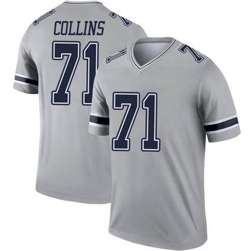 Youth Nike Dallas Cowboys La'el Collins Gray Inverted Jersey - Legend
