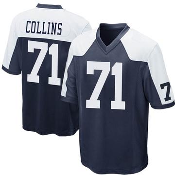 Youth Nike Dallas Cowboys La'el Collins Navy Blue Throwback Jersey - Game