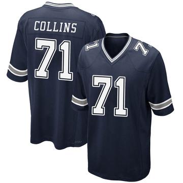 Youth Nike Dallas Cowboys La'el Collins Navy Team Color Jersey - Game