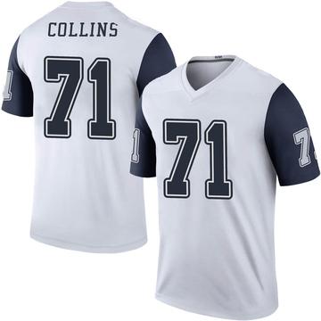 Youth Nike Dallas Cowboys La'el Collins White Color Rush Jersey - Legend