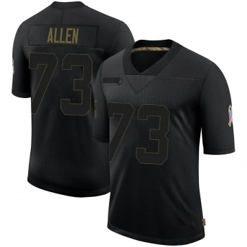Youth Nike Dallas Cowboys Larry Allen Black 2020 Salute To Service Jersey - Limited