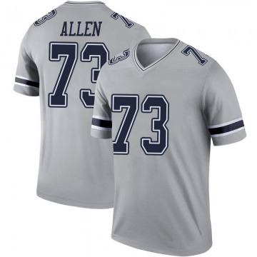 Youth Nike Dallas Cowboys Larry Allen Gray Inverted Jersey - Legend