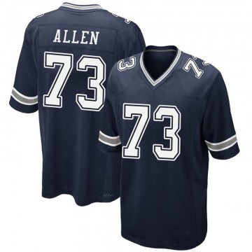 Youth Nike Dallas Cowboys Larry Allen Navy Team Color Jersey - Game