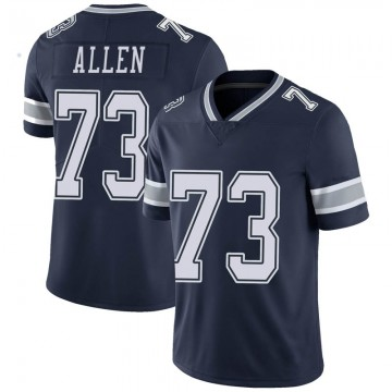 Youth Nike Dallas Cowboys Larry Allen Navy Team Color Vapor Untouchable Jersey - Limited