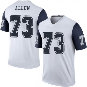 Youth Nike Dallas Cowboys Larry Allen White Color Rush Jersey - Legend