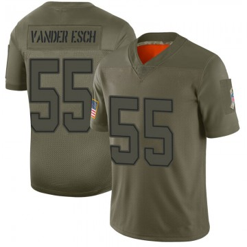 Youth Nike Dallas Cowboys Leighton Vander Esch Camo 2019 Salute to Service Jersey - Limited