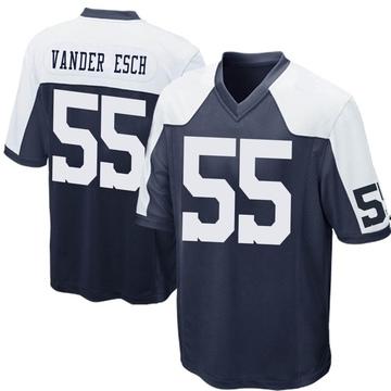 Youth Nike Dallas Cowboys Leighton Vander Esch Navy Blue Throwback Jersey - Game