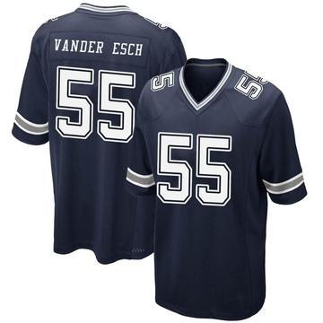 Youth Nike Dallas Cowboys Leighton Vander Esch Navy Team Color Jersey - Game