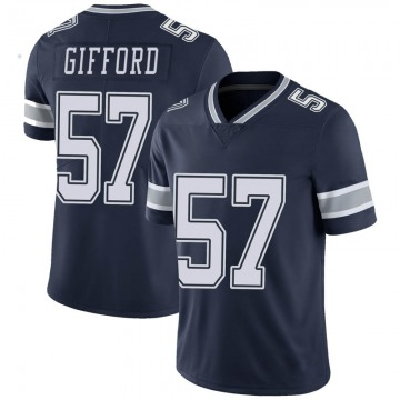 Youth Nike Dallas Cowboys Luke Gifford Navy Team Color Vapor Untouchable Jersey - Limited