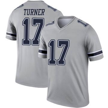 Youth Nike Dallas Cowboys Malik Turner Gray Inverted Jersey - Legend