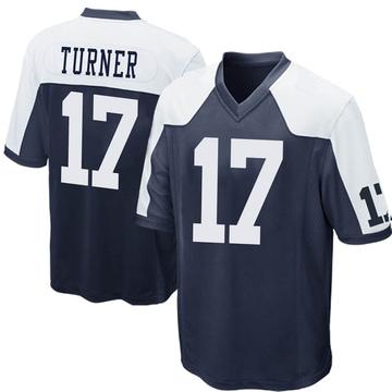 Youth Nike Dallas Cowboys Malik Turner Navy Blue Throwback Jersey - Game