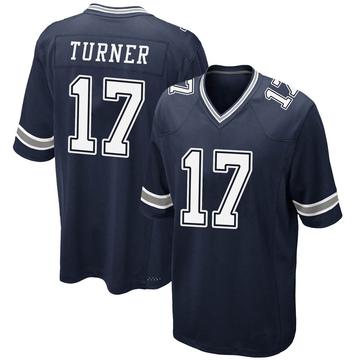 Youth Nike Dallas Cowboys Malik Turner Navy Team Color Jersey - Game