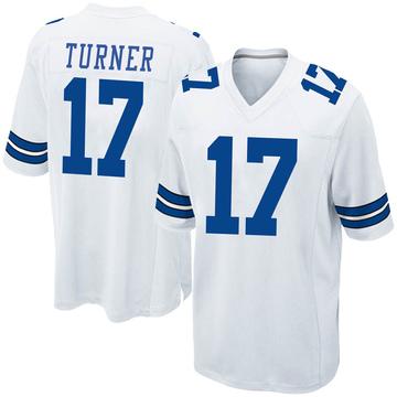 Youth Nike Dallas Cowboys Malik Turner White Jersey - Game