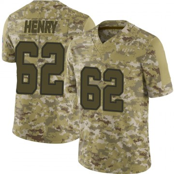 Youth Nike Dallas Cowboys Marcus Henry Camo 2018 Salute to Service Jersey - Limited