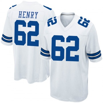 Youth Nike Dallas Cowboys Marcus Henry White Jersey - Game