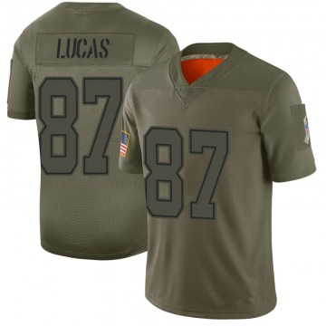 Youth Nike Dallas Cowboys Marcus Lucas Camo 2019 Salute to Service Jersey - Limited