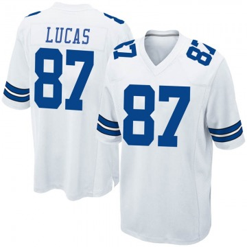 Youth Nike Dallas Cowboys Marcus Lucas White Jersey - Game