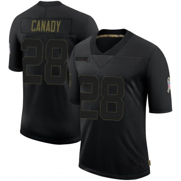Youth Nike Dallas Cowboys Maurice Canady Black 2020 Salute To Service Jersey - Limited