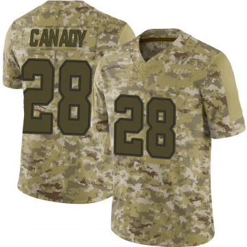Youth Nike Dallas Cowboys Maurice Canady Camo 2018 Salute to Service Jersey - Limited