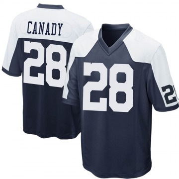 Youth Nike Dallas Cowboys Maurice Canady Navy Blue Throwback Jersey - Game