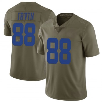 Youth Nike Dallas Cowboys Michael Irvin Green 2017 Salute to Service Jersey - Limited
