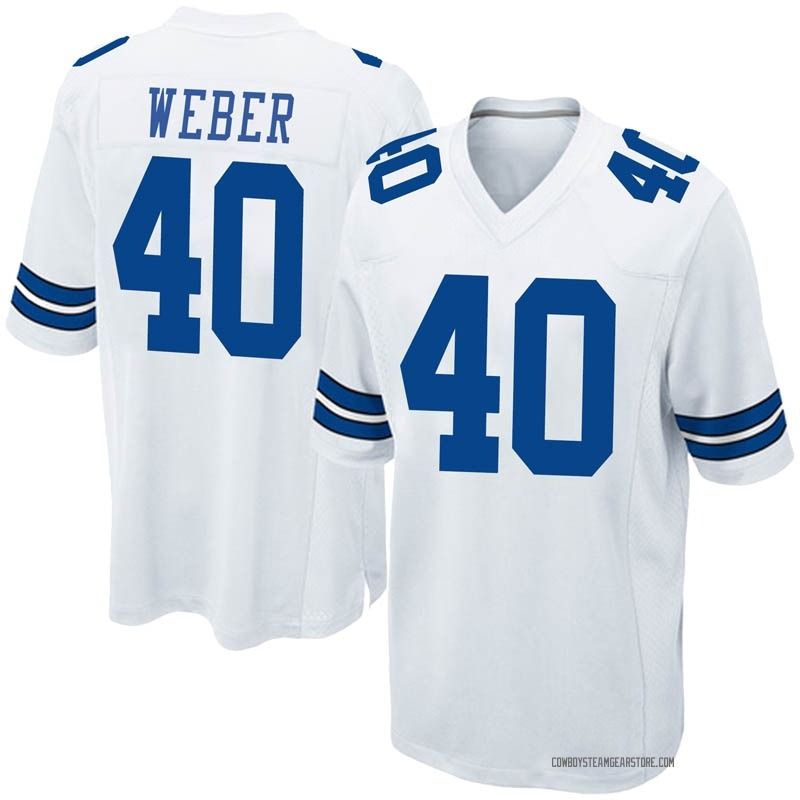 quality design 10c03 2af94 Youth Nike Dallas Cowboys Mike Weber White Jersey - Game