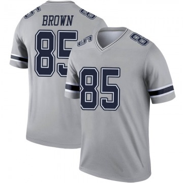 Youth Nike Dallas Cowboys Noah Brown Brown Inverted Gray Jersey - Legend
