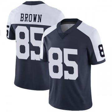 Youth Nike Dallas Cowboys Noah Brown Brown Navy Alternate Vapor Untouchable Jersey - Limited