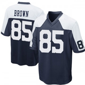 Youth Nike Dallas Cowboys Noah Brown Navy Blue Throwback Jersey - Game