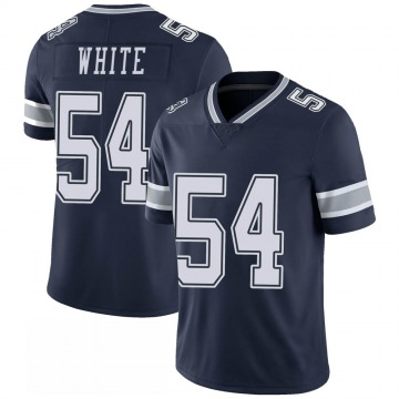 Youth Nike Dallas Cowboys Randy White White Navy 100th Vapor Jersey - Limited