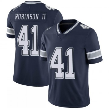 Youth Nike Dallas Cowboys Reggie Robinson II Navy 100th Vapor Jersey - Limited