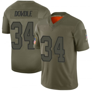 Youth Nike Dallas Cowboys Rico Dowdle Camo 2019 Salute to Service Jersey - Limited