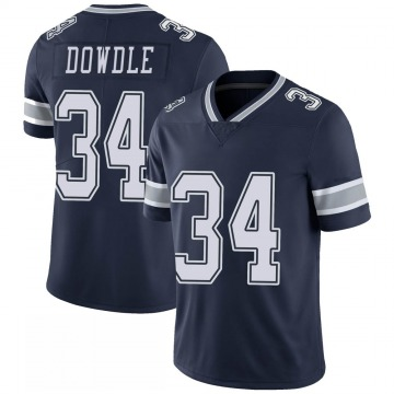 Youth Nike Dallas Cowboys Rico Dowdle Navy 100th Vapor Jersey - Limited