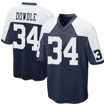 Youth Nike Dallas Cowboys Rico Dowdle Navy Blue Throwback Jersey - Game