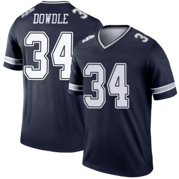 Youth Nike Dallas Cowboys Rico Dowdle Navy Jersey - Legend