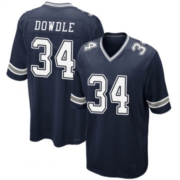 Youth Nike Dallas Cowboys Rico Dowdle Navy Team Color Jersey - Game