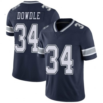 Youth Nike Dallas Cowboys Rico Dowdle Navy Team Color Vapor Untouchable Jersey - Limited