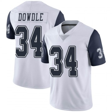 Youth Nike Dallas Cowboys Rico Dowdle White Color Rush Vapor Untouchable Jersey - Limited
