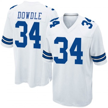 Youth Nike Dallas Cowboys Rico Dowdle White Jersey - Game