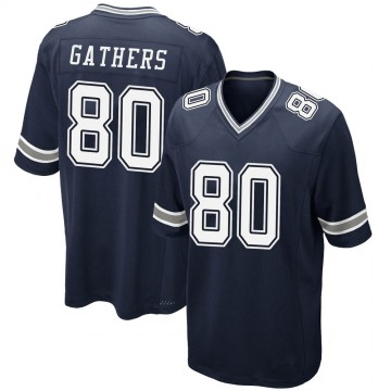 Youth Nike Dallas Cowboys Rico Gathers Navy Team Color Jersey - Game
